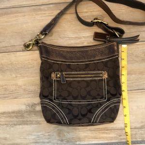 Authentic vintage Coach signature brown handbag
